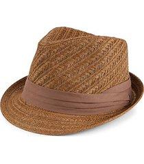 pattern woven straw fedora