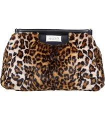 maison margiela glam slam handbag in synthetic fur