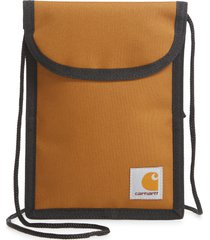 carhartt work in progress collins neck pouch, size one size - hamilton brown