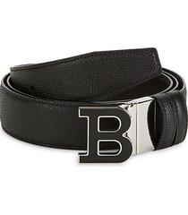 b-buckle leather belt