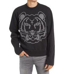 men's kenzo men's k-tiger classic sweatshirt, size large - black