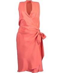 sleeveless v-neck side tie yard dress