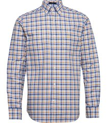 d1. oxford micro madras reg bd skjorta casual blå gant