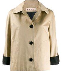 marni contrast cuffs jacket - neutrals