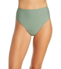women's veronica beard lanikai bikini bottoms, size large - green