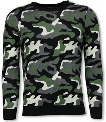 sweater justing military trui - camouflage pullover -