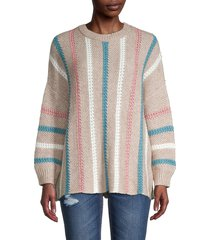 70/21 women's textured striped sweater - size xs