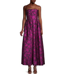 rose jacquard gown