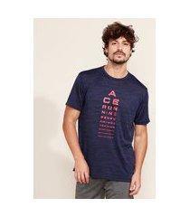 "camiseta masculina esportiva ace running"" manga curta gola careca azul marinho"""