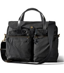 filson 24-hour tin cloth briefcase - black 11070140