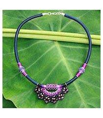 amethyst collar necklace, 'star of nan' (thailand)