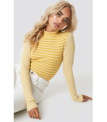 glamorous high neck top - yellow