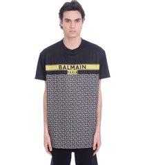 balmain t-shirt in black polyester