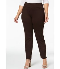 charter club petite plus size ponte-knit pants, created for macy's