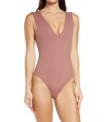 free people intimately fp keep it sleek bodysuit, size small in summer sparrow at nordstrom