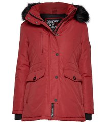 ashley everest parka parka lange jas jas rood superdry