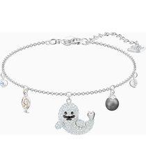 braccialetto polar, multicolore, placcatura rodio