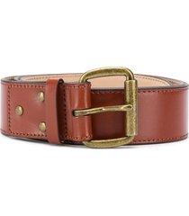 acne studios unisex leather belt - brown