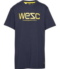 wesc t-shirt t-shirts short-sleeved blå wesc