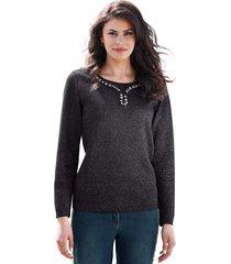 trui amy vermont zwart::zilverkleur