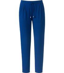 broek in jogg-pant-stijl pasvorm barbara van peter hahn blauw