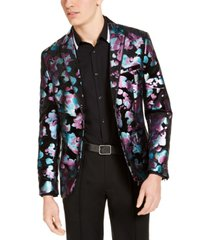 inc men's slim-fit foil floral blazer, created for macy's