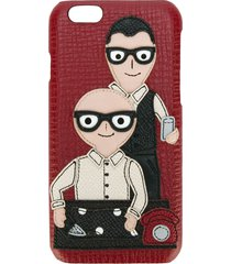 dolce & gabbana designers patch iphone 6 case - red