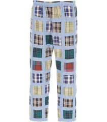stussy patchwork madras trousers