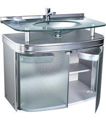 gabinete para banheiro com cuba de embutir master 80x47,5cm cromado