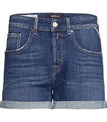 jacket 573 bio shorts denim shorts blå replay