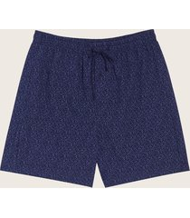 bermuda de pijama mini print azul m