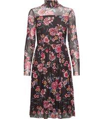 dress knitted fabric jurk knielengte zwart taifun