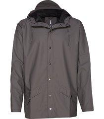 jacket regenkleding grijs rains