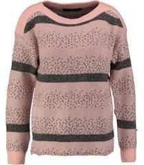 vero moda misty rose boatneck trui met glitterdraad