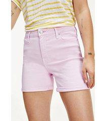 shorts jeans de corte ajustado azul tommy hilfiger