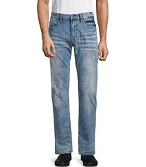 six x basic faded straight jeans