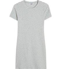 vestido rayas color gris, talla 6