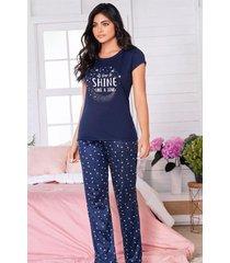 pijama mujer conjunto pantalón manga corta 11534
