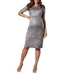 women's tiffany rose anna maternity shift dress, size 0 (fits like 2-4 us) - blue