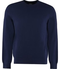 a.p.c. long sleeve crew-neck sweater