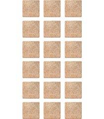 protetor adesivo para móveis bemfixa, feltro quadrado, 20 mm, 18 peças
