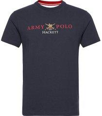 army back nbr tee t-shirts short-sleeved blå hackett london