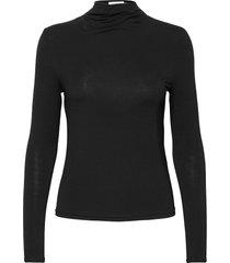 t-shirt ls turtleneck polotröja svart rosemunde
