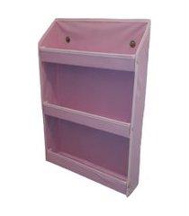 revisteiro prateleira montessoriano organibox - rosa