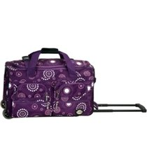 "rockland 22"" carry-on rolling duffle bag"