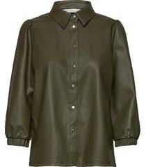 nubelen shirt långärmad skjorta grön nümph
