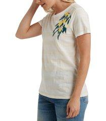 lucky brand lemon embroidered t-shirt
