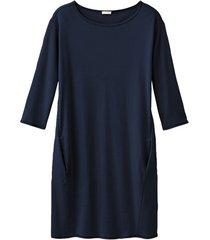 jersey jurk, nachtblauw 44/46