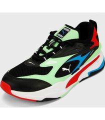 tenis lifestyle multicolor puma zapatillas rs-fast