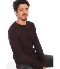 sweater jack & jones dale morado - calce regular